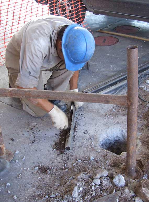 Análisis de suelo contaminado