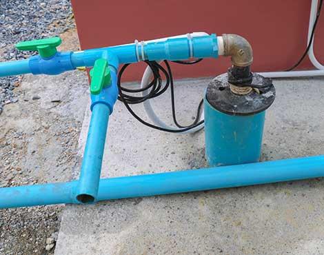 Pozo de agua terminado