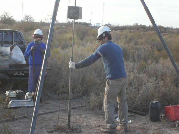 Estudio de suelos en el lecho del río Tunuyán